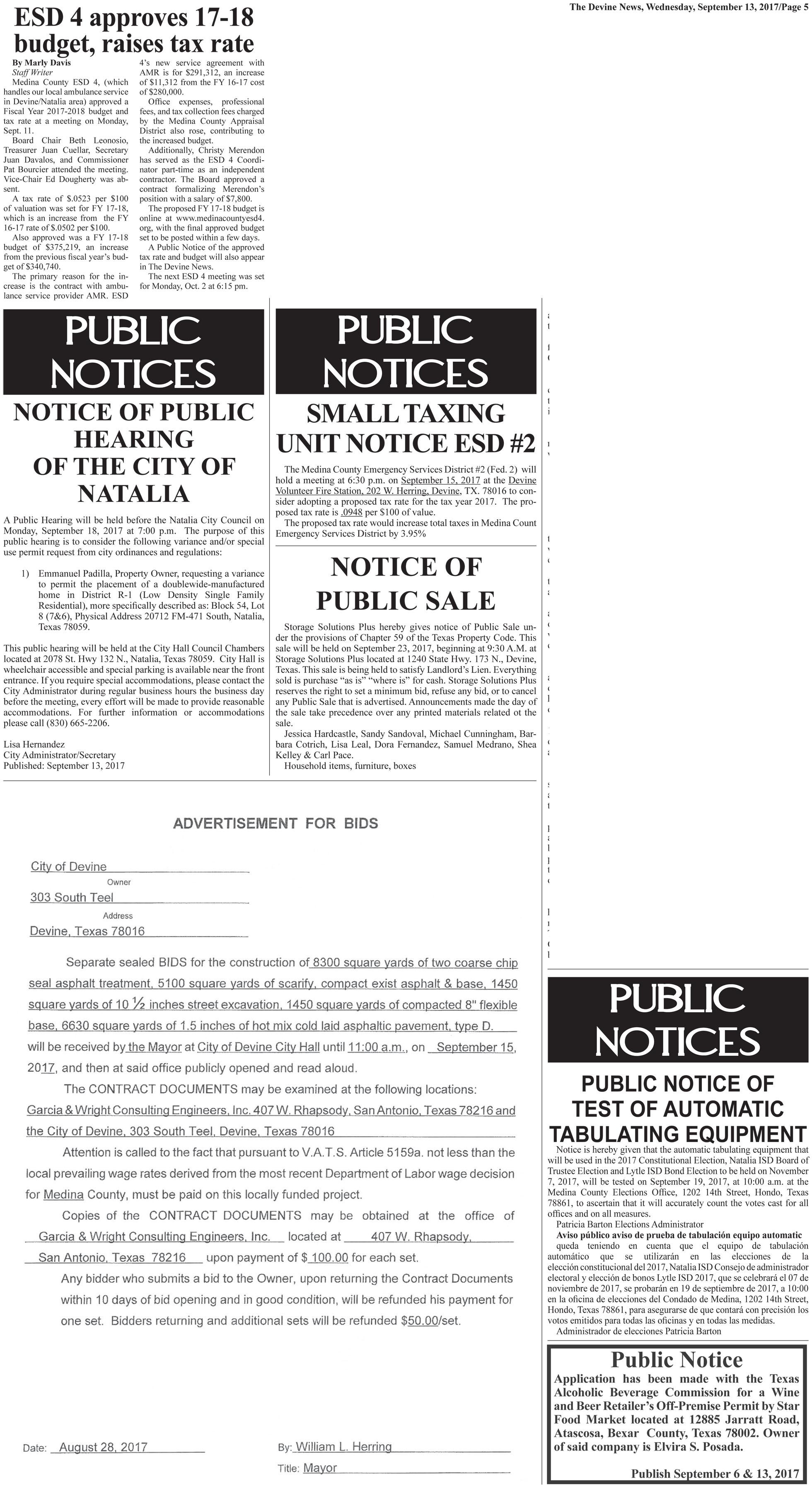 Public Notices Page 9-13-17