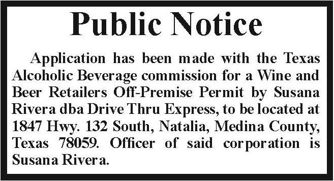 texas public notice