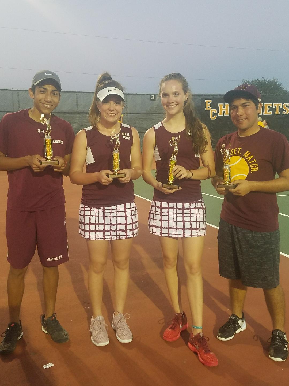 Devine tennis brings home 4 trophies