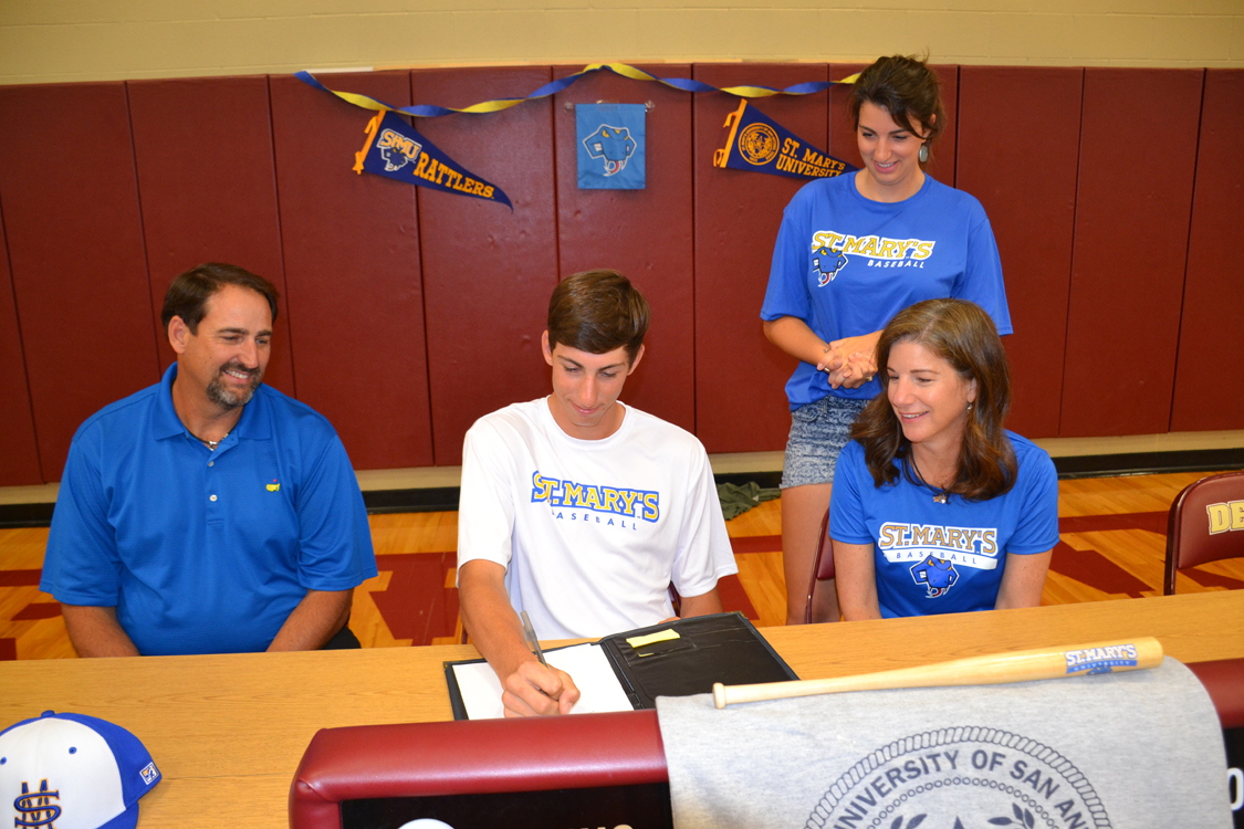Schmidt signs letter of intent with St. Mary's University