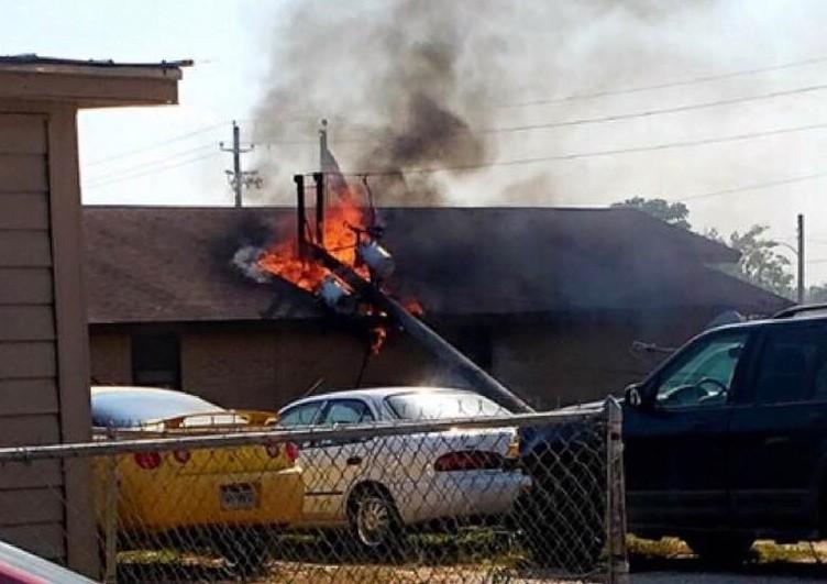 Natalia Post Office burns down