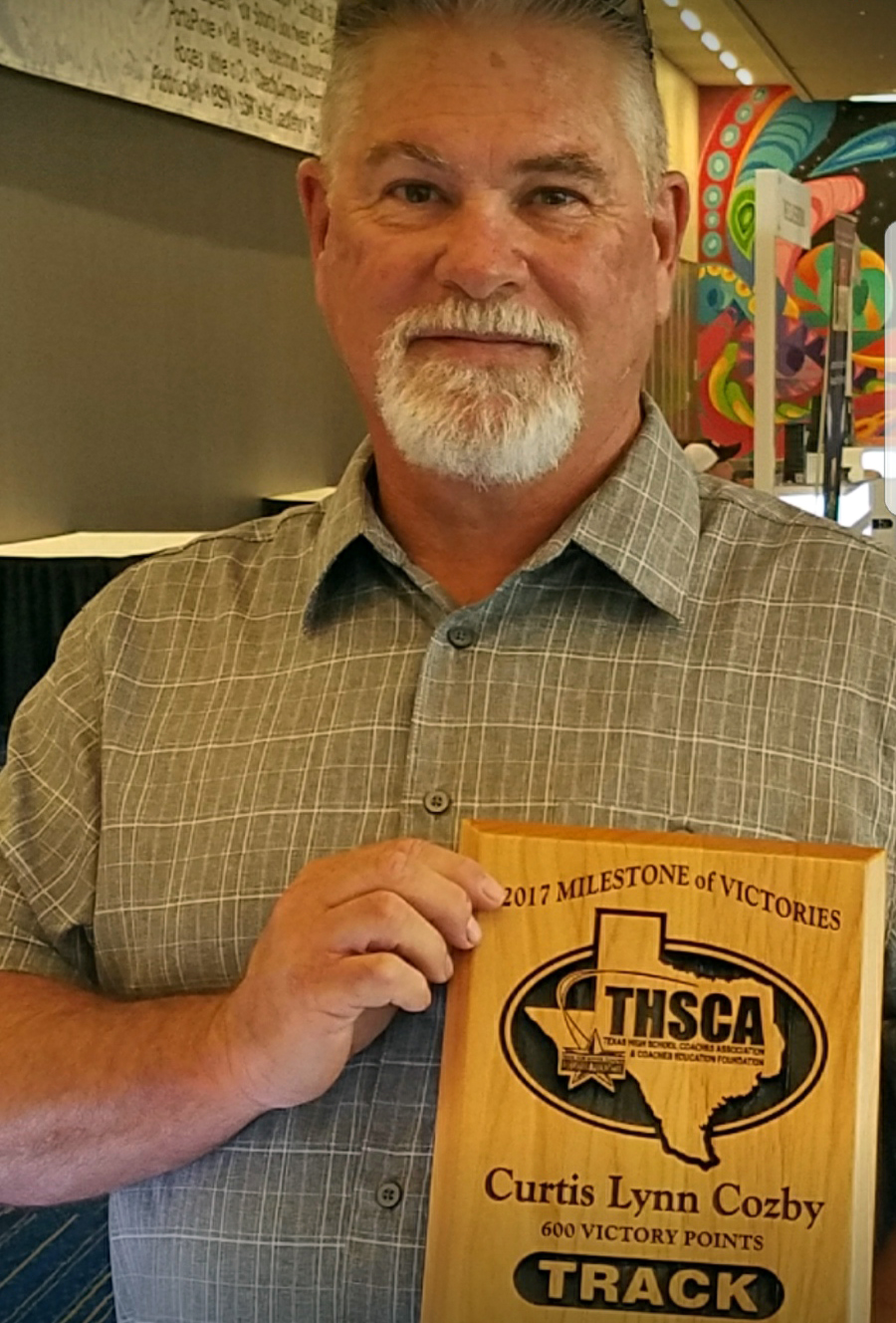 Cozby recognized by THSCA for 600 point achievement