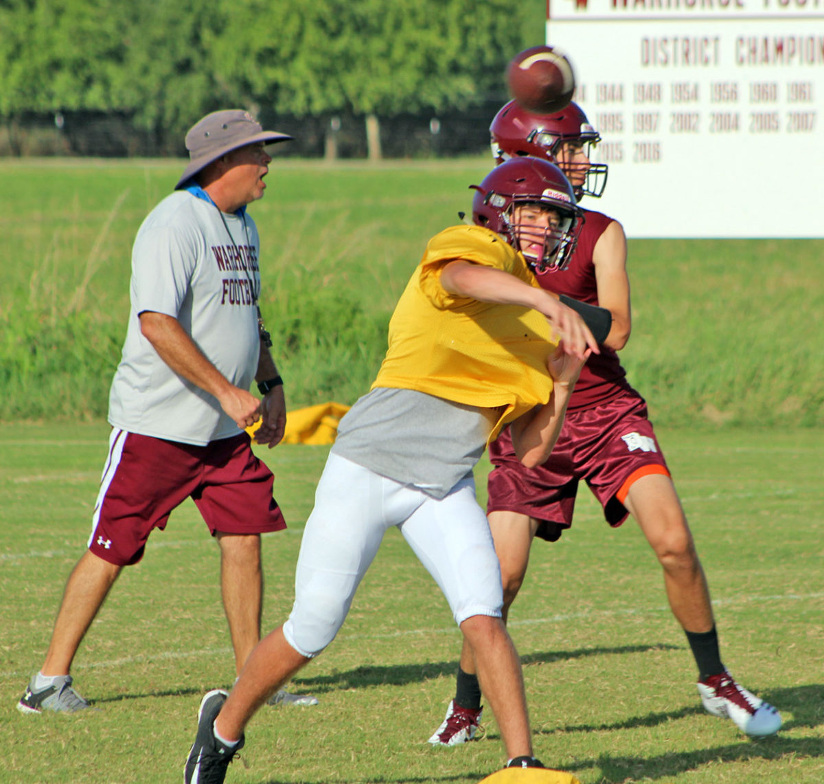 Warhorses progressing during two-a-days