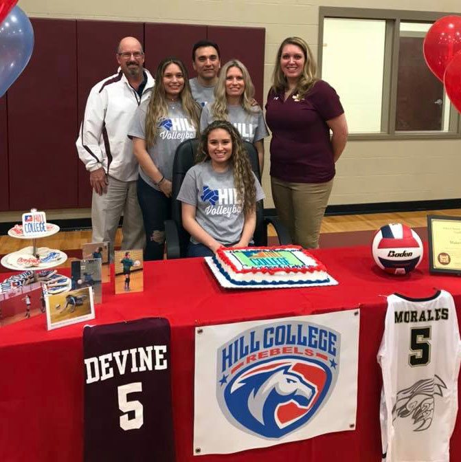Morales signs with Hill College