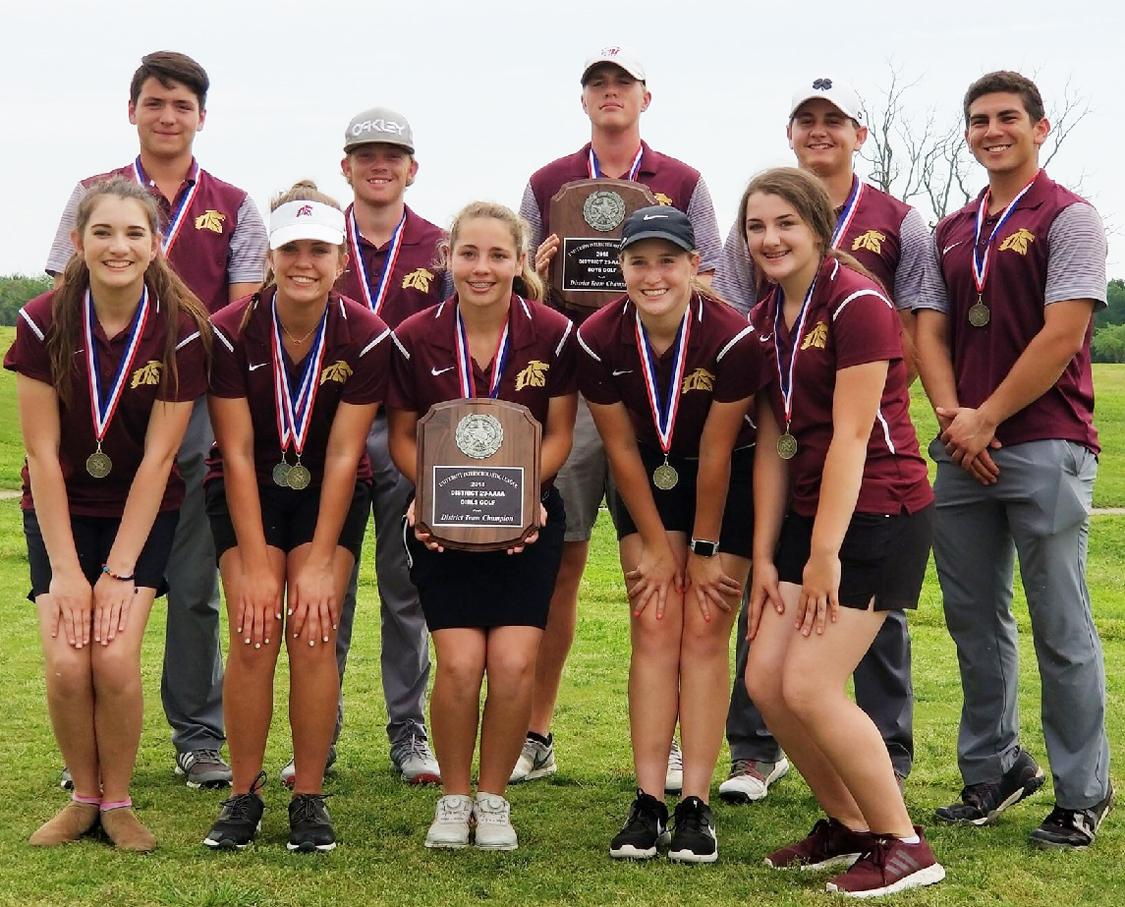 Warhorse golf wins District 29-4A title