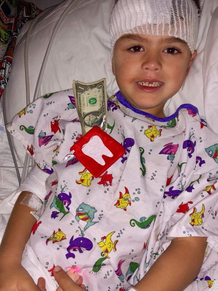 Get Well Gage! 5-year-old Lawler recovering from fractured skull after freak accident