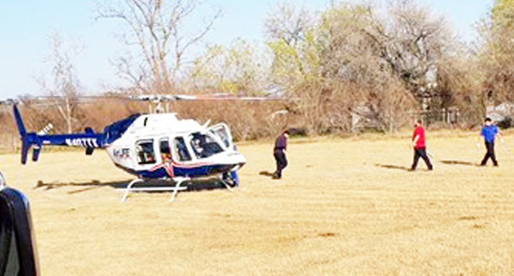Motorcyclist airlifted after a head-on accident in Devine