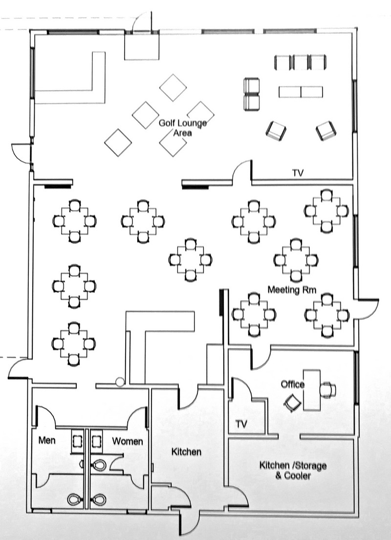 Plan to serve liquor may change golf course clubhouse layout ... Golf Course Club House Floor Plans on golf course design plans, golf course clubhouse design, golf course floor plans, golf course home exteriors tuscan style,