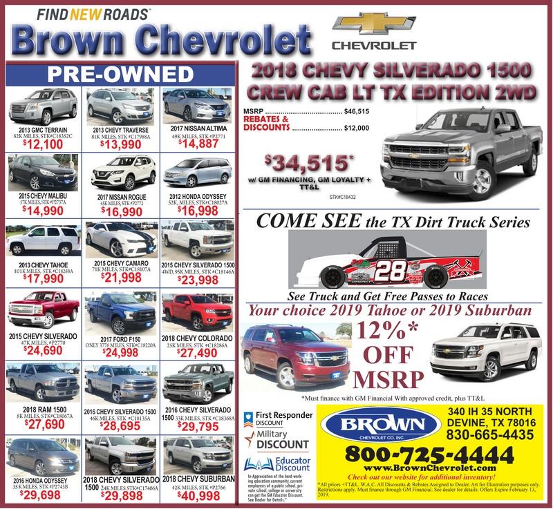 Brown Chevrolet Devine Tx >> Arabians Beat Navarro 37 34 To Win Bi District Will Face