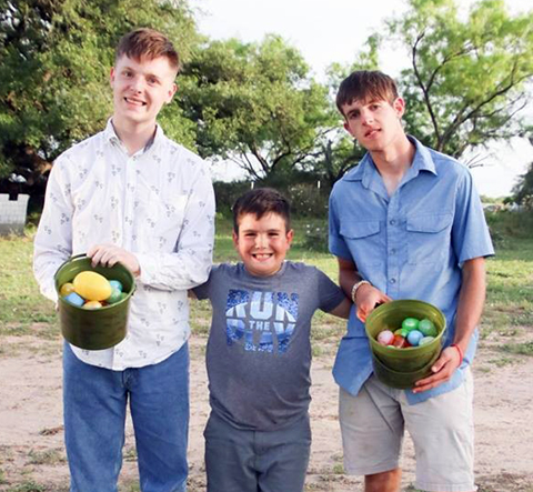Living with autism: Little man makes an extraordinary egg hunt for his BIG brothers