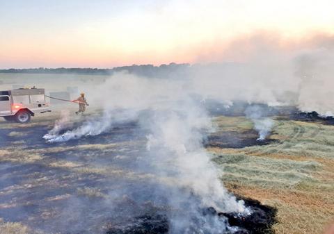 Firemen respond to nine grass fires since July 20