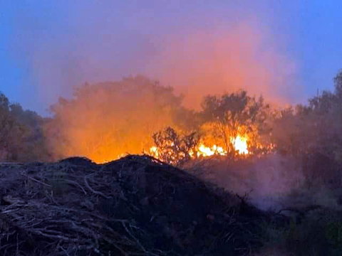 Firefighters combat over 200 acres in wild land fires this Saturday-Sunday