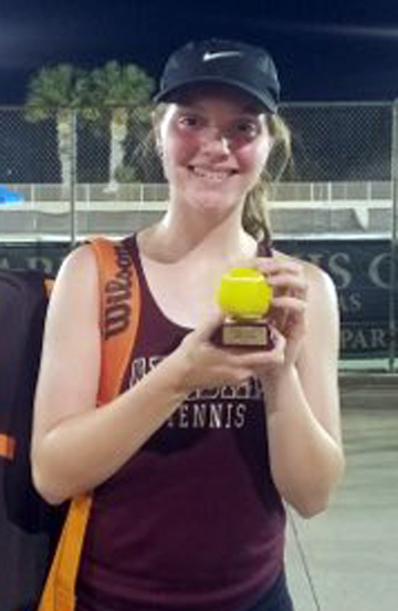 Team tennis compete in Brackenridge; Runyan takes gold