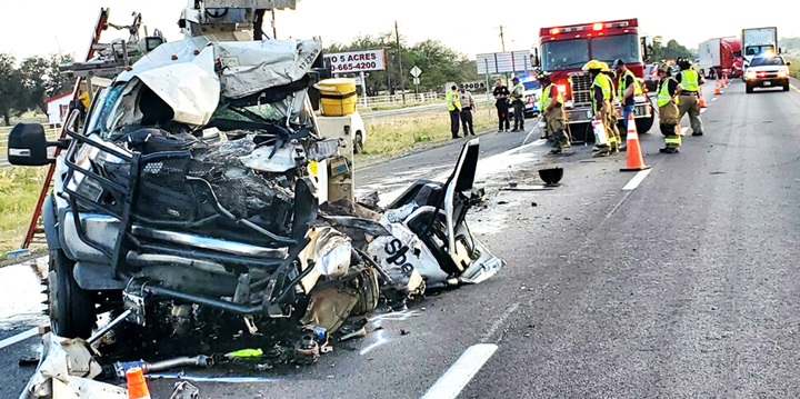 Firefighters rescue driver using Jaws of Life
