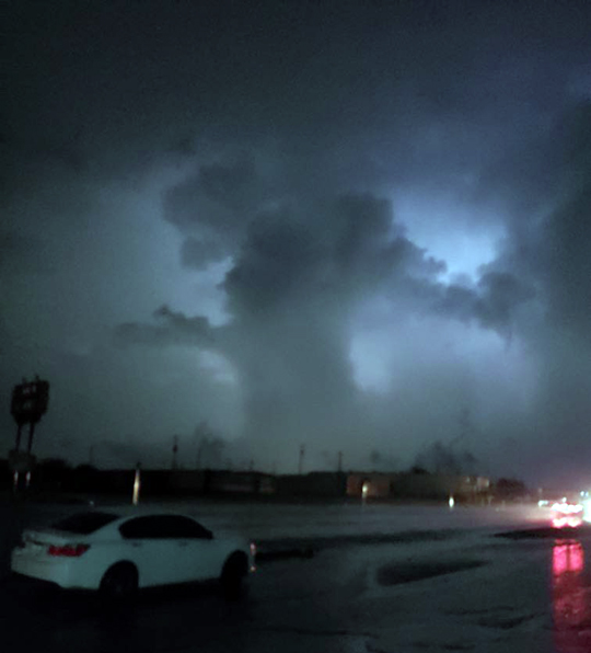 Violent winds up to 110 MPH travel along 34+ mile path, F-1 tornado touches down west of Hondo Creek