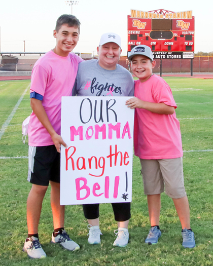 """Our momma rang the bell… """"The one thing that will get anyone through is a good attitude."""""""
