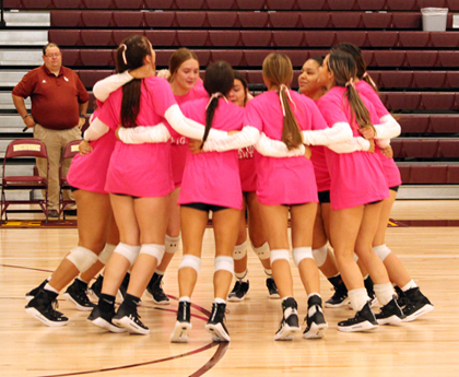 Arabians remain undefeated in district, host Dig Pink games